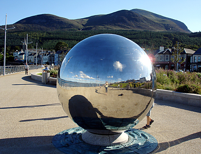 A large mirror ball on the Promenade geograph.org.uk 532274