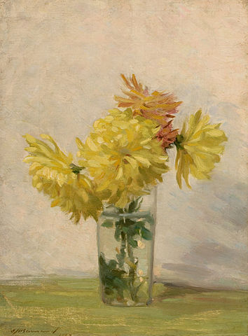 Edward H. Barnard Still Life with Bouquet of Yellow Flowers 13964599568