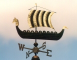Ship-weathervane-Viking-Ship-with-gold-leaf-photo