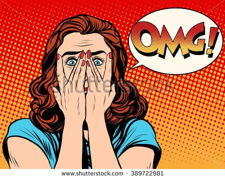 panic attack stock vector surprised omg shocked woman 389722981